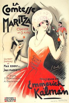 Vintage Poster - Operetta Poster by Georges Dola, 1930