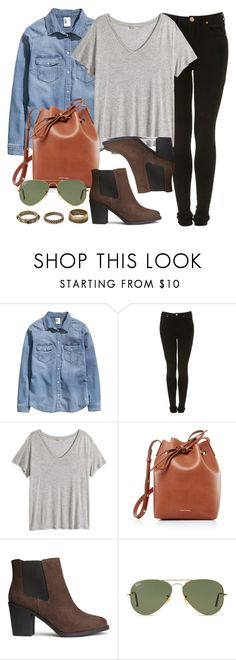 """""""Style #11084"""" by vany-alvarado ❤ liked on Polyvore featuring H&M, Mansur Gavriel, Ray-Ban and Forever 21"""