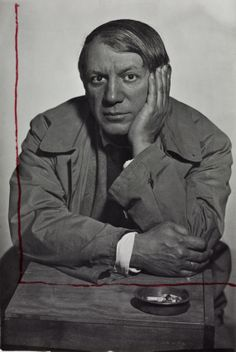 Picasso photographed by Man Ray.