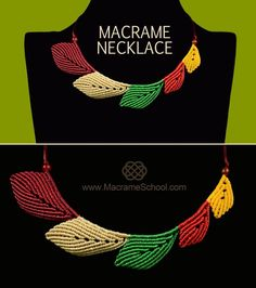 Macrame Leaf Necklace Tutorial « Jewelry