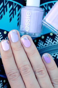 Essie - Go Ginza (I), Lilacism (M), Bond with whomever (R), Play Date (P)