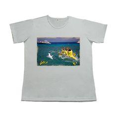 Vaa gola - canoa havaiana - camiseta gola careca