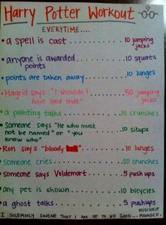 Photo of Harry Potter workout for fans of Harry Potter Vs. What to do when you're watching Harry Potter movies: Harry Potter Workout, Harry Potter Jokes, Harry Potter Fandom, Harry Potter Marathon, Movie Workouts, Netflix Workout, Fun Workouts, Workout Jokes, Disney Workout