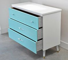 Before and After: Vintage Dresser with Découpage Pattern