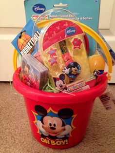 mickey mouse easter basket by vyjcreations on etsy 2500