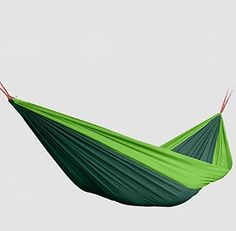 Yopih Portable Parachute Nylon Fabric Travel Camping Hammock -- Additional details at the pin image, click it  : Camping Furniture