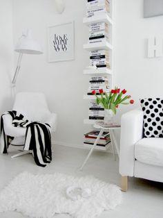 Rincones nórdicos con la estantería Lack | La Garbatella: blog de decoración con estilo nórdico.