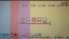 owl scrapbook paper | Cute Scrapbooking Papers X 8 Happy OWL 12 X 12 30cm X 30cm | eBay