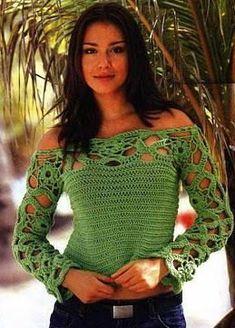 Crochet women summer blouse pattern, jumper, Pattern only