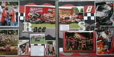 Image result for scrapbook layout images drag car racing