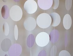 Lavender, Gray and White Paper Garland, Wedding Decor, Birthday Party, Baby… Baby Shower Garland, Baby Shower Decorations, Wedding Decorations, Lavender Baby Showers, Grey Baby Shower, Purple Themes, Garland Wedding, Grey And White, Gray