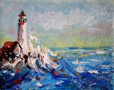 Image result for oil paintings of lighthouses