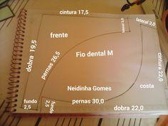Aqui você encontra uma variedade de moldes pra confecção de peças íntimas e vestuário em geral. Fio dental
