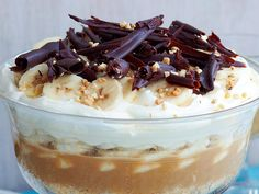 Banoffee trifle, banana recipe, brought to you by Good Food