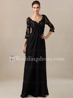 Empire Waist Mother of the Bride Dress with Sleeves MO083/ Click here to see more detail:  www.inweddingdress.com/style-ps149.html  #weddingdresses