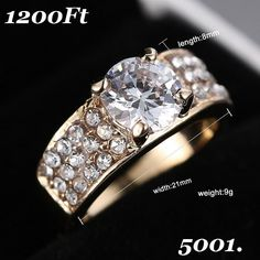 New Design women Rhinestone rings jewelry Gold Zircon Crystal Rings Engagement ring Promotions Girlfriend Gifts Engagement Ring Sizes, Engagement Jewelry, Wedding Engagement, Wedding Rings For Women, Wedding Ring Bands, Costume Rings, Gold Rhinestone, Moon Necklace, Fashion Jewelry