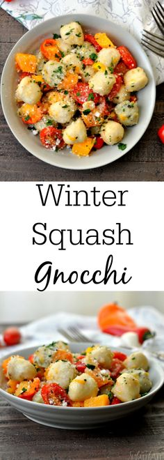 Winter Squash Gnocchi - My Suburban Kitchen Quick Lunch Recipes, Side Dish Recipes, Veggie Recipes, Easy Dinner Recipes, Healthy Recipes, Meal Recipes, Drink Recipes, Healthy Meals, Winter Food