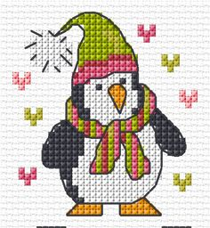 Christmas penguin FREE chart   Lesley Teare Thoughts on Design