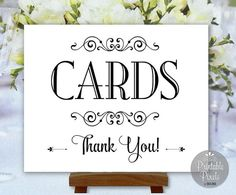 Cards Sign Printable Wedding Sign Special by PrintablePixels