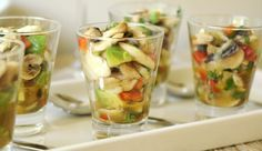 Cebiche de Champiñones - Gourmet, el placer de comer bien
