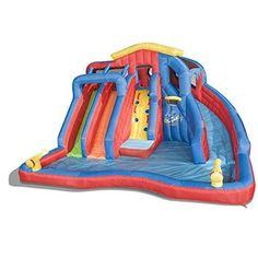 5 Giant Inflatable Water Slides, Slip N' Slides, & Water Parks For Kids Water Slides Backyard, Kids Water Slide, Backyard Water Parks, Outdoor Summer Activities, Outdoor Fun For Kids, Backyard For Kids, Kids Fun, Inflatable Water Park, Giant Inflatable