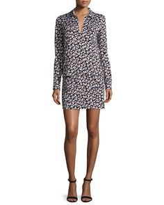 Diane von Furstenberg Dilly Berlin Meadow Shift Dress, Women's, Size: 12