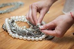 DIY: how to make necklace? #diy #jewlery #necklace