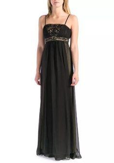 c53e8796de6 SUE WONG Black Embellished Semi Formal Gown Size 4  438 NWT N4219