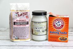 3 Ingredient Natural Deodorant // SmashedPeasandCarrots.com