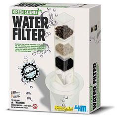 You will be amazed to see how water can be cleaned and filtered using natural materials. It is a great way to explain why many faster moving streams contain clean water. This personal water filtration kit also demonstrates the scientific way to extract salt from sea water. A great demo for the classroom, a rainy day science activity, or the basis for a science fair experiment.