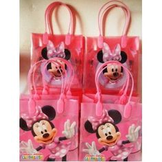 12 Pieces of Disney Minnie Mouse Candy Bags. Plus 12 Pieces of Disney Minnie Mouse Self-inking Stamps-disney Minnie Mouse Goody Bags-disney Minnie Mouse Party Favors-disney Minnie Mouse Party Supplies-minnie mouse treat bags Baby 1st Birthday, 1st Birthday Parties, Birthday Ideas, Goody Bags, Treat Bags, Minnie Mouse Theme, Halloween Favors, Kid Parties, Birthday Decorations