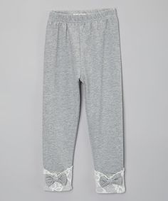 Love this Gray & White Lace Leggings - Toddler & Girls on #zulily! #zulilyfinds