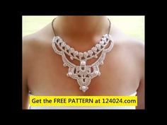 how to crochet a necklace - YouTube