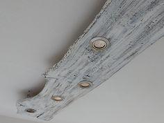 Deckenlampe im Shabby-Look Led Spots, Led Stripes, Shabby Look, New Homes, Lights, Interior Ideas, Wood, Random, Phone