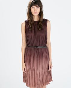 Image 2 of OMBRE DRESS WITH BELT from Zara