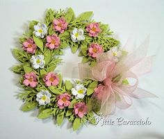 Wreath Instructions, step by step, shows  a couple of different styles, made with punches.