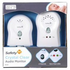 Safety 1st Crystal Clear Audio Monitor - White