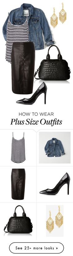 """Straight to Plus Size"" by pamelaflores-1 on Polyvore featuring Abercrombie & Fitch, A.L.C., Dorothy Perkins, French Connection, Charlotte Russe and White House Black Market"