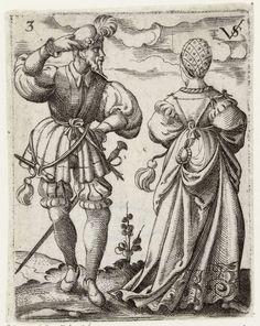 Dansend paar nr. 3, Virgilius Solis (I), c. 1545