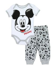 This Mickey Mouse Bodysuit & Pants - Infant is perfect! #zulilyfinds