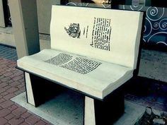 A book bench.                                                                                                                                                                                 More
