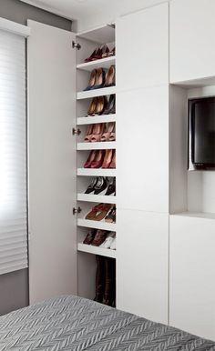 45 The Best Shoes Rack Design Ideas That are Trending Today The Best Shoes Rack Design Ideas That Are Trending Today 13 Best Shoe Rack, Diy Shoe Rack, Shoe Storage, Shoe Racks, Wardrobe Closet, Closet Bedroom, Bedroom Storage, Rack Design, Storage Design