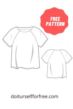 T Shirt Sewing Pattern, Sewing Patterns Free, Free Sewing, Free Pattern, Embroidery Fashion, Amazing Things, Magazines, Ruffle Blouse, Pdf