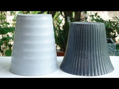 How to make beautiful cement pot at home easily! Amazing idea for the garden! - YouTube