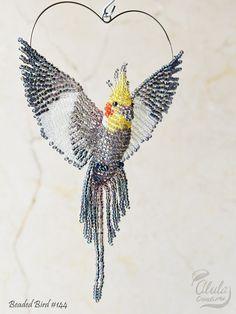Cockatiel ornamento decoración de la ventana del por AlulaCreations