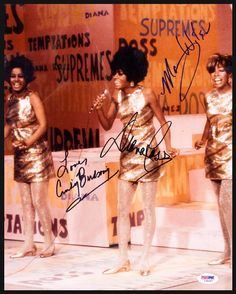 Autographed by Cindy Birdsong, Diana Ross & Mary Wilson