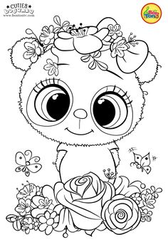 Cuties Coloring Pages for Kids – Free Preschool Printables – Slatkice Bojanke – Cute Animal Coloring Books by BonTon TV Free Kids Coloring Pages, Preschool Coloring Pages, Unicorn Coloring Pages, Pokemon Coloring Pages, Adult Coloring Book Pages, Mermaid Coloring, Disney Coloring Pages, Animal Coloring Pages, Free Printable Coloring Pages