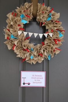 gallamore west: 4th of July Burlap Wreath tutorial