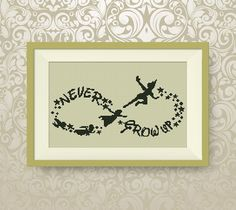 BUY 2, GET 1 FREE! Peter Pan cross stitch pattern, Peter Pan Wendy and Co flying, Instant Download, Never Grow Up, pdf pattern, #P089 by NataliNeedlework on Etsy