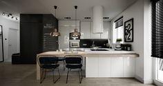 minimalist wooden dining room